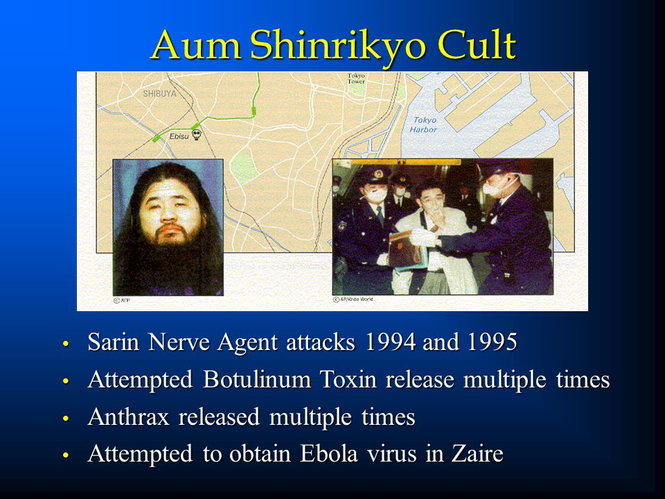 1976 - First reported case in Sudan 1989 - Reston, VA health facility among imported monkeys April 1995 - Ebola epidemic Kikwit, Zaire 1996 - Ebola outbreak in Alice, TX - monkeys 1996 - Gabon patient infection transferred to Johannesburg clinic healthcare worker 50 to 80% mortality rate in humans - extensive hemorrhage, shock, and end organ failure 2002 – Gabon – most recent outbreak Ebola Virus