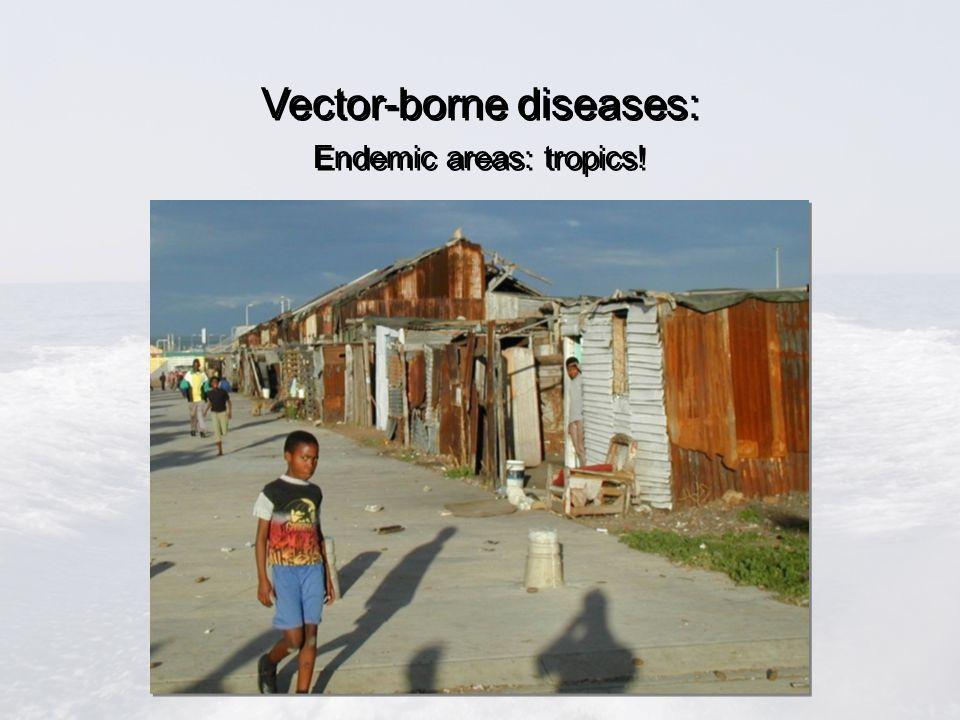 Vector-borne diseases: Endemic areas: tropics! Vector-borne diseases: Endemic areas: tropics!