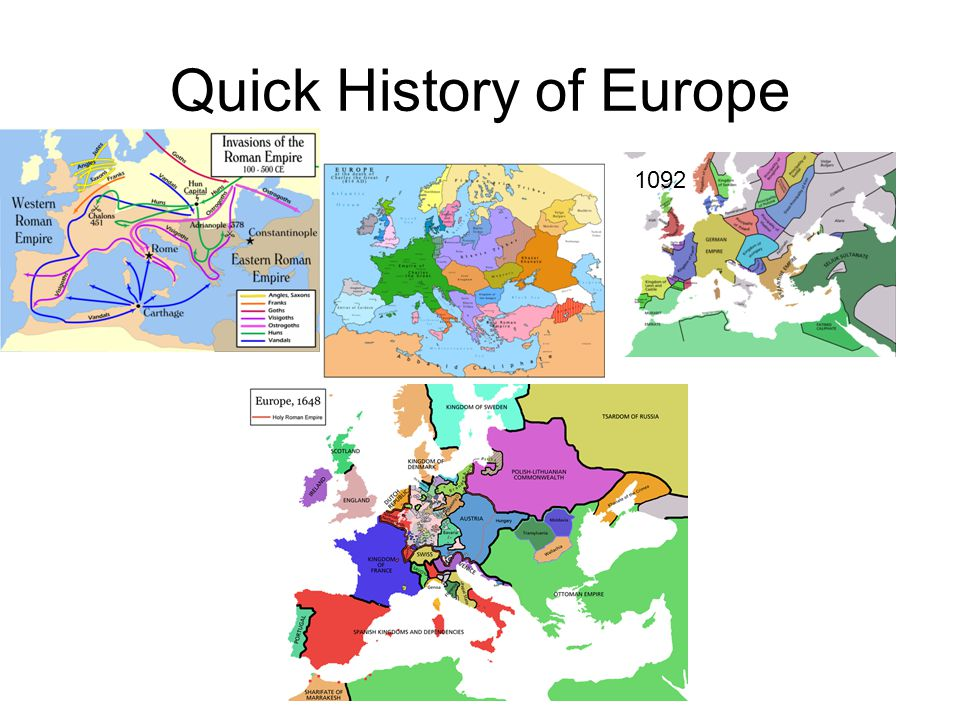 Quick History of Europe 1092