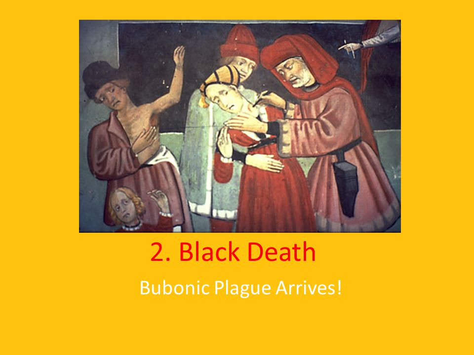 2. Black Death Bubonic Plague Arrives!