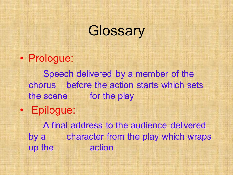 Glossary Blank Verse: Unrhymed lines in iambic pentameter (a meter made up of 5 'feet', each foot consisting of a stressed and unstressed syllable) Imagery: Language that appeals to the senses and major image patterns which reoccur throughout the play (ex: Day and Night in R& J)