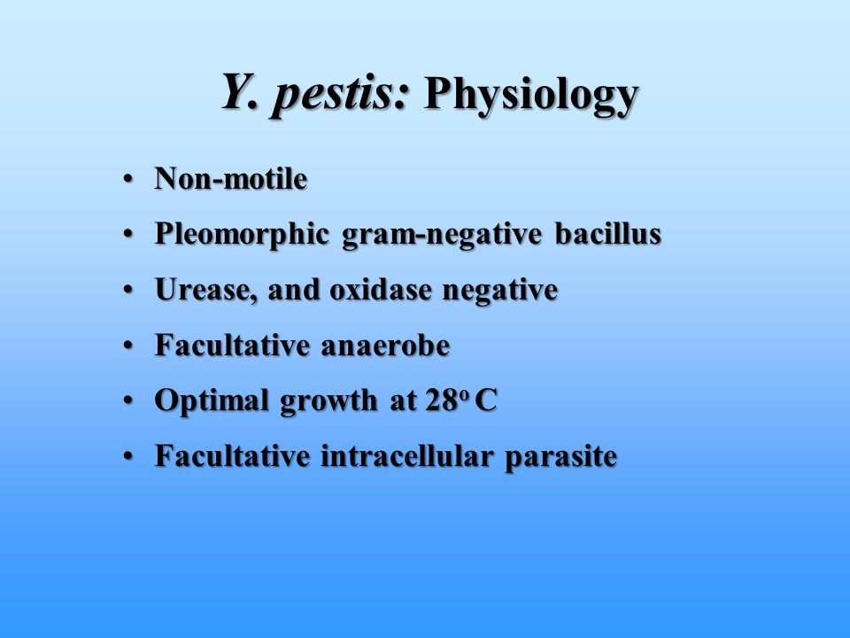 Non-motileNon-motile Pleomorphic gram-negative bacillusPleomorphic gram-negative bacillus Urease, and oxidase negativeUrease, and oxidase negative Fac