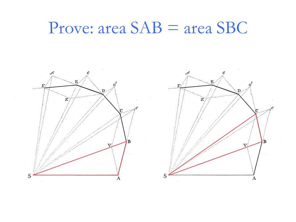 Prove: area SAB = area SBC