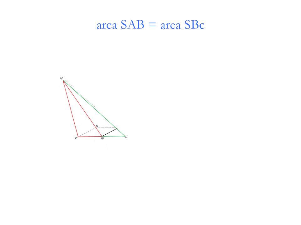 area SAB = area SBc