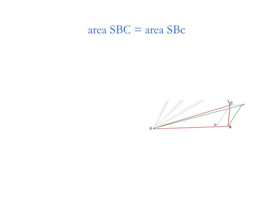 area SBC = area SBc
