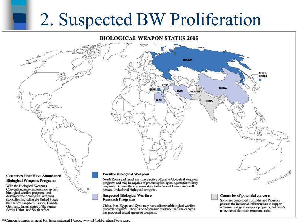 21 2. Suspected BW Proliferation