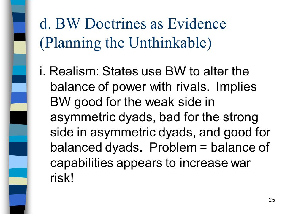 25 d. BW Doctrines as Evidence (Planning the Unthinkable) i.
