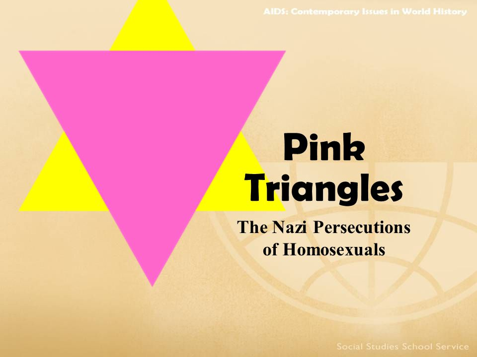 The Nazi Persecutions of Homosexuals Pink Triangles