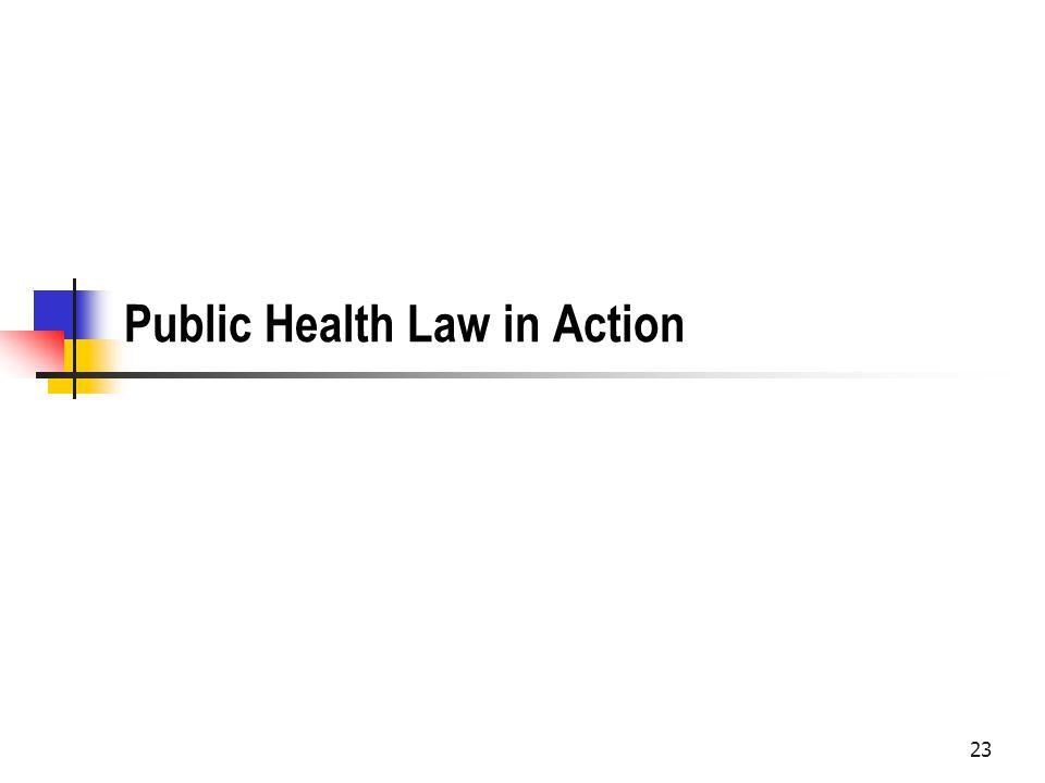 23 Public Health Law in Action