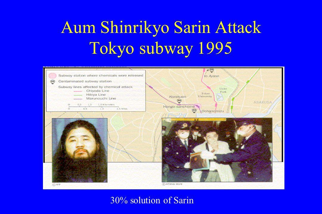 Aum Shinrikyo Sarin Attack Tokyo subway 1995 30% solution of Sarin