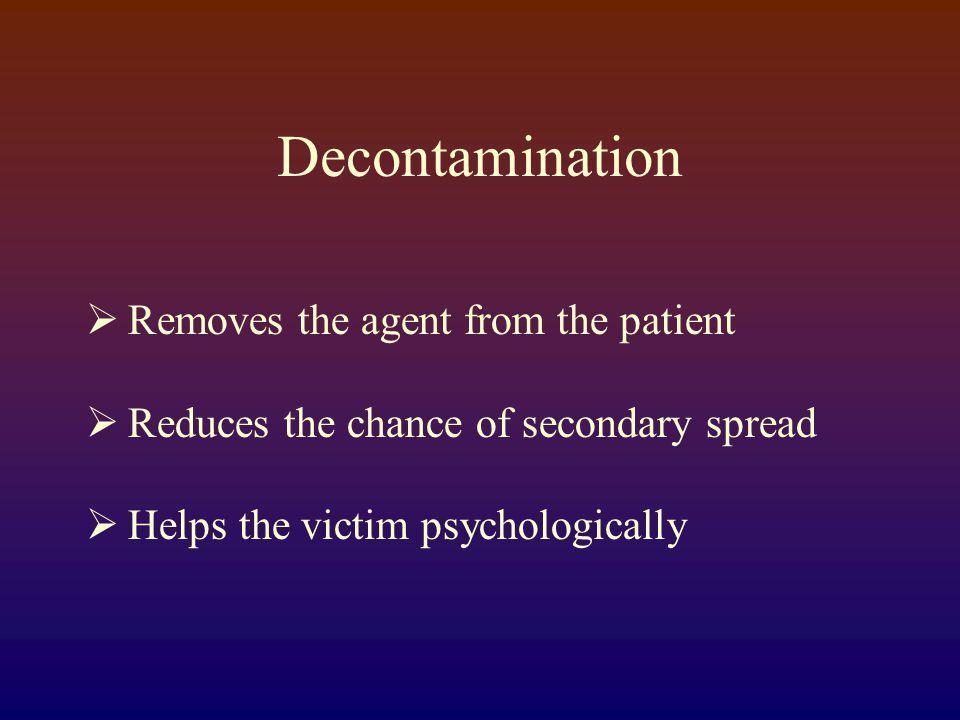 Nerve Agent Symptoms  Salivation  Lacrimination  Urination  Defecation  Gastrointestinal pain  Emesis  SLUDGE