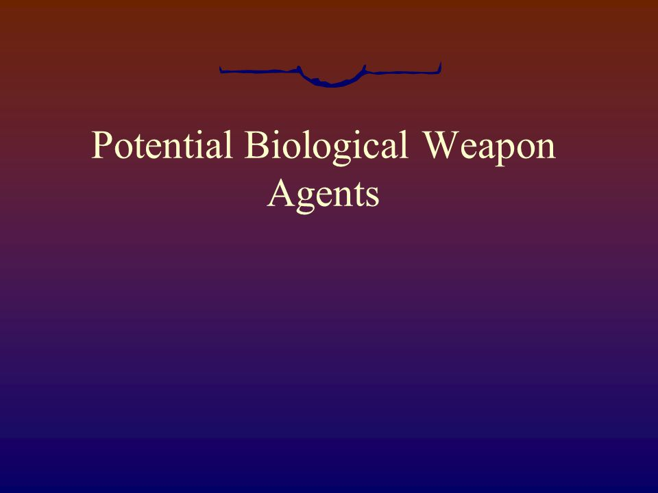 I'm confident that we can defend against chemical warfare.