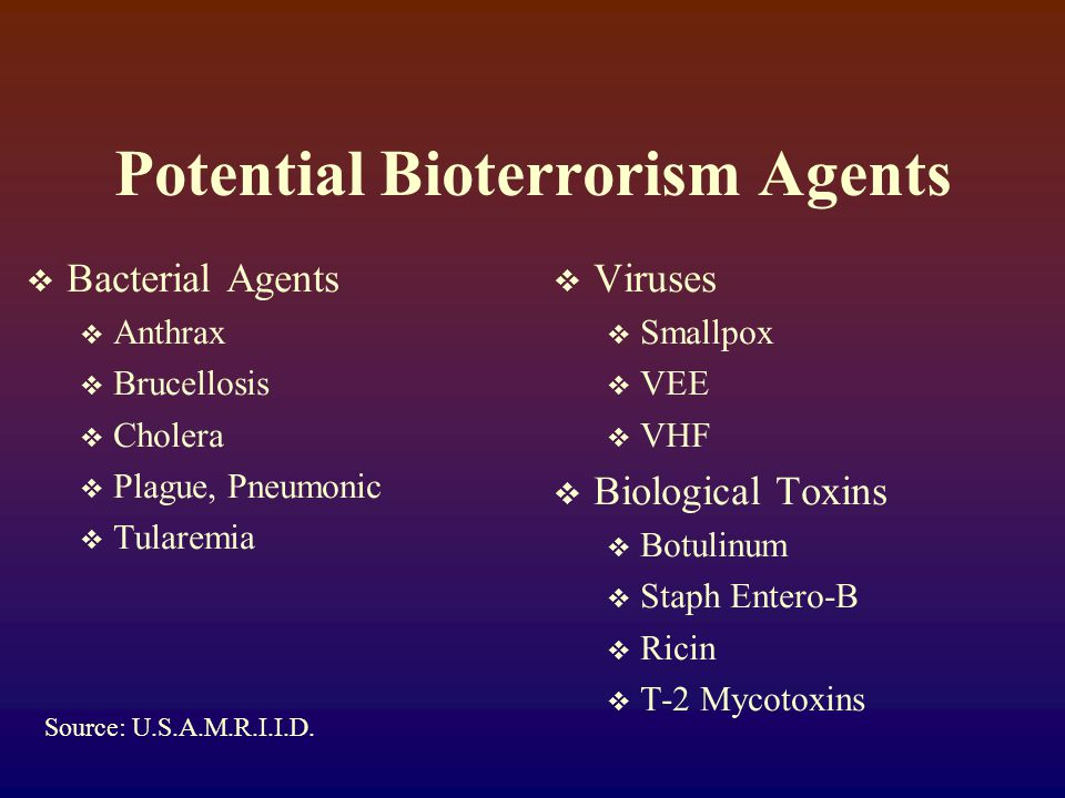 Characteristics of a Biological Attack:  Civilian Targets Likely.