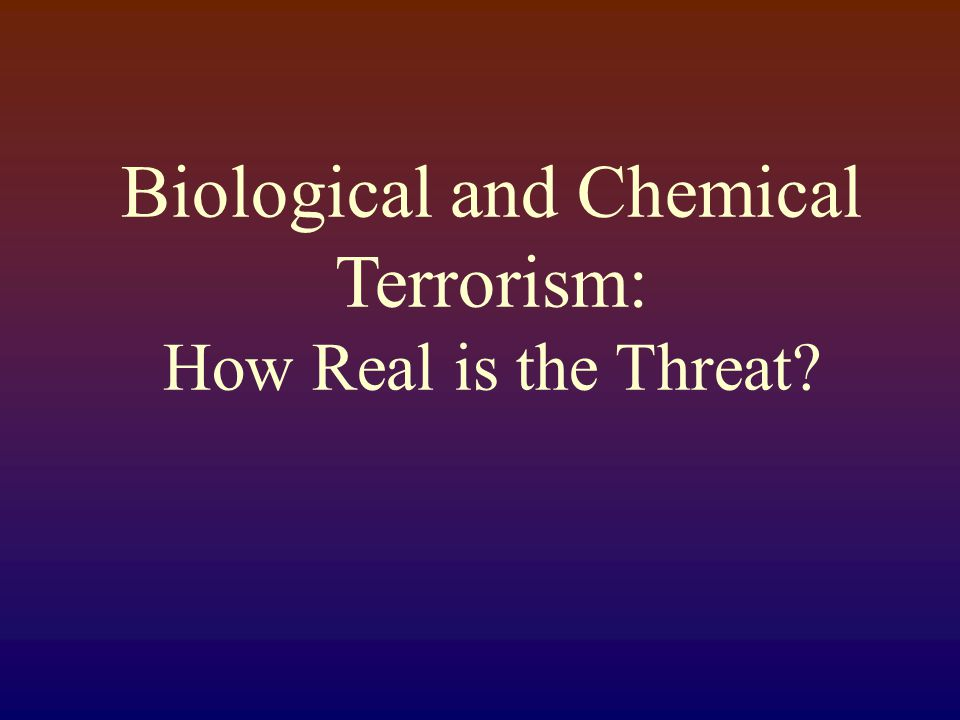 Terrorism: Are We Ready Barbara Russell, RN,MPH,CIC,ACRN
