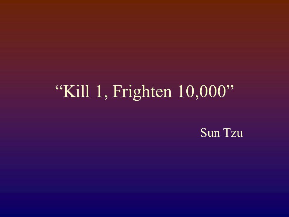 Kill 1, Frighten 10,000 Sun Tzu