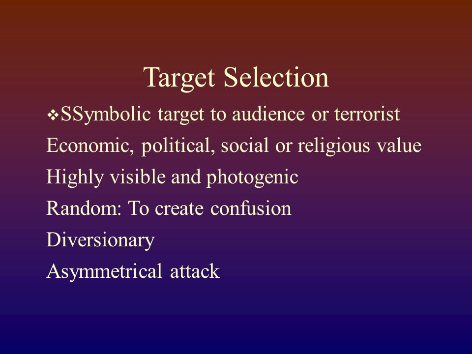 Types of Terrorism  Biological  Nuclear  Incendiary  Chemical  Explosive  B-NICE