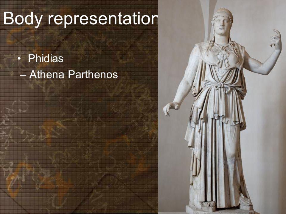 Body representation Phidias – Athena Parthenos
