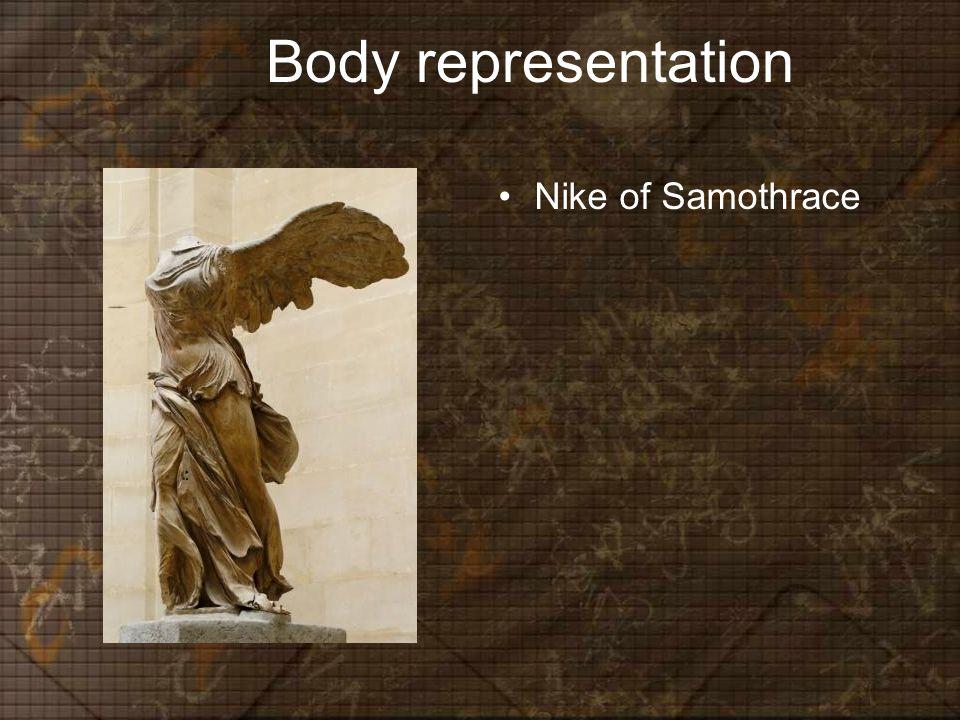 Body representation Nike of Samothrace