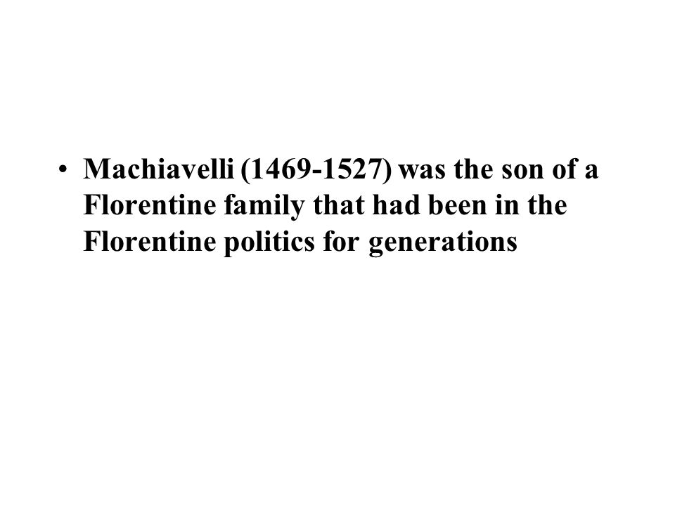 Machiavelli, The Prince, seems to advocate tyranny as the only sure antidote to man ' s natural egoism and contentiousness Domestic peace is to be sought at all costs, even to the exclusion of liberty.