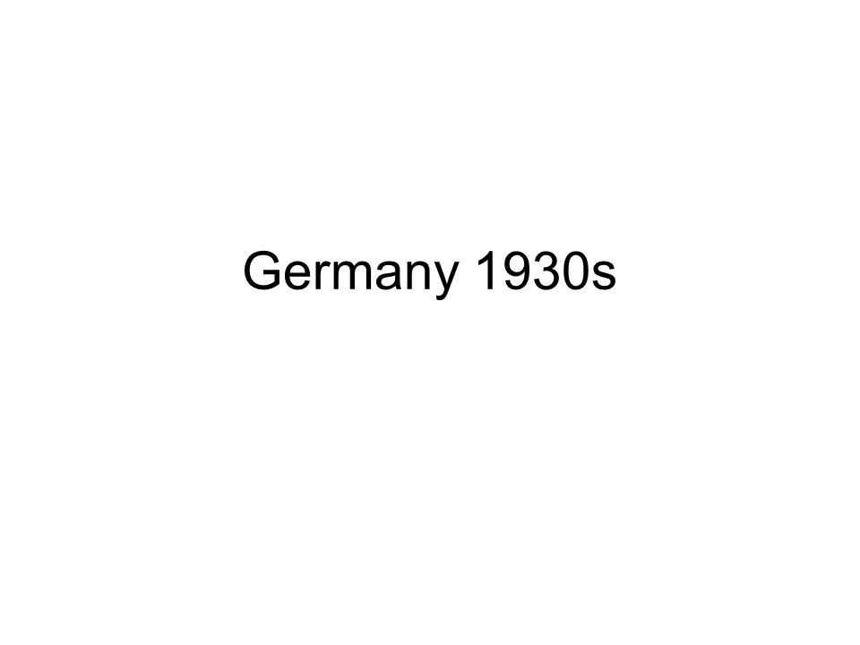 Germany 1930s
