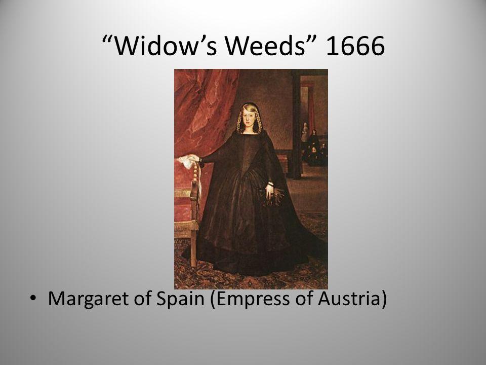 """""""Widow's Weeds"""" 1666 Margaret of Spain (Empress of Austria)"""