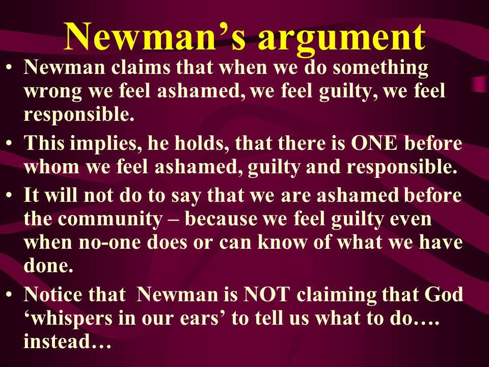 CARDINAL NEWMAN Newman was once an Anglican and became a Catholic and a Cardinal He converted because he felt called by God to do so. He did not think