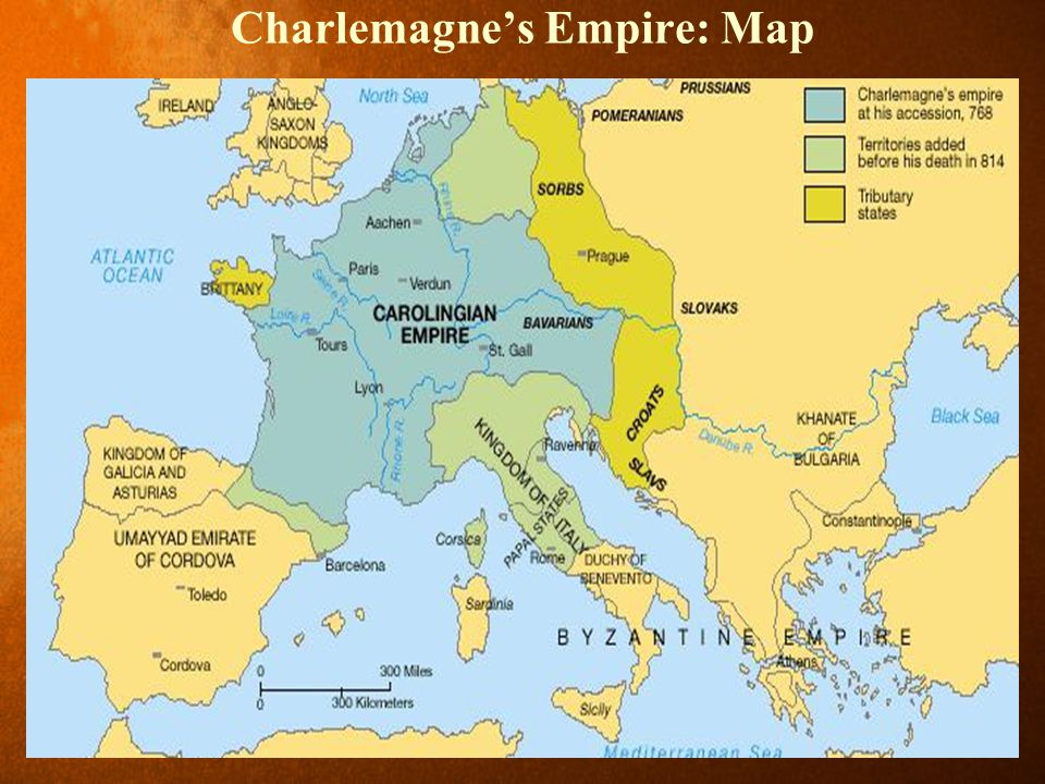 Charlemagne's Empire: Map