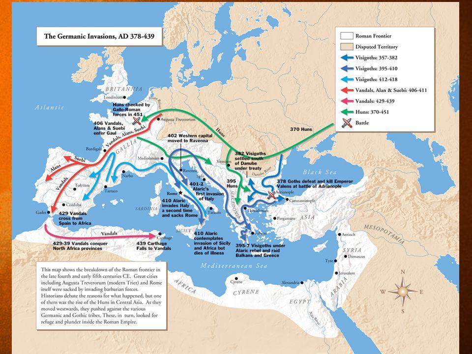 MIDDLE AGES MAP c. 450 A.D.