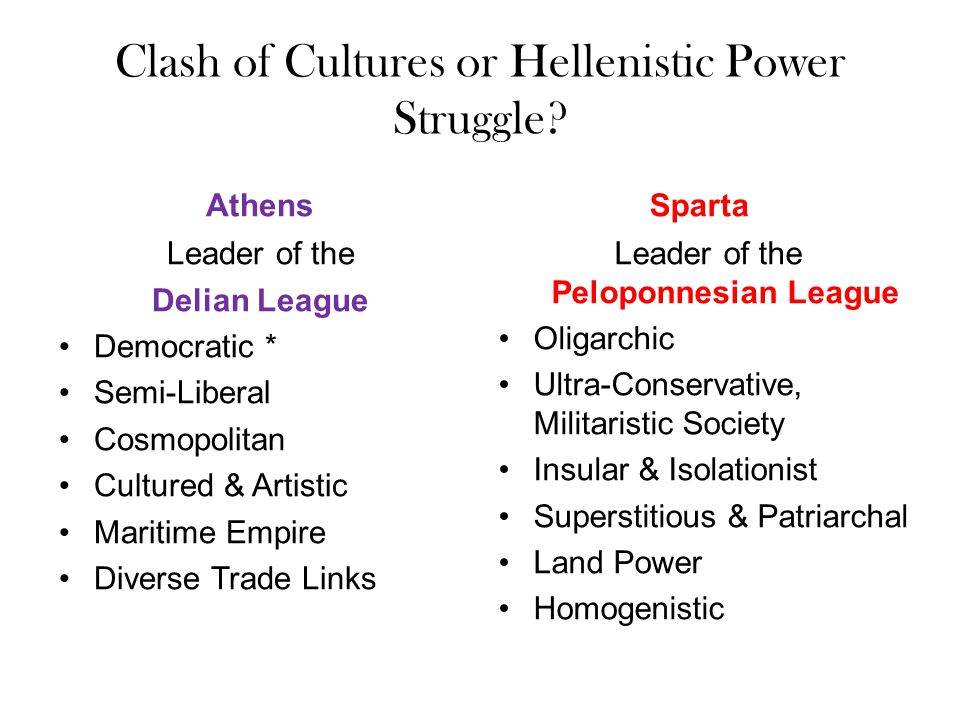 Clash of Cultures or Hellenistic Power Struggle.