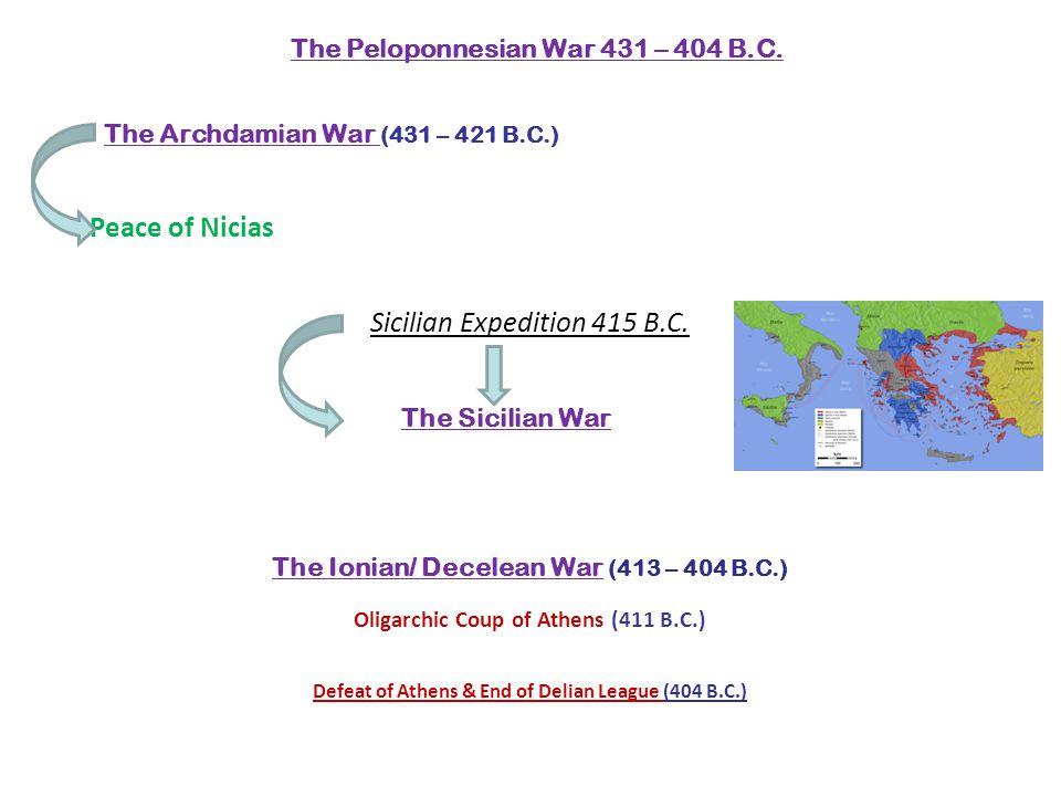 The Peloponnesian War 431 – 404 B.C.