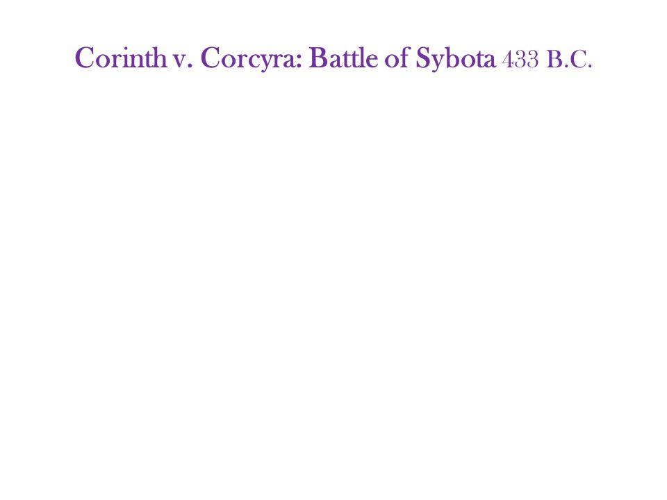 Corinth v. Corcyra: Battle of Sybota 433 B.C.