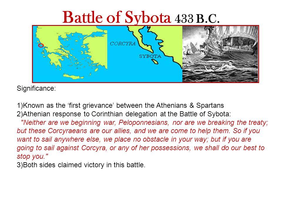 Battle of Sybota 433 B.C.