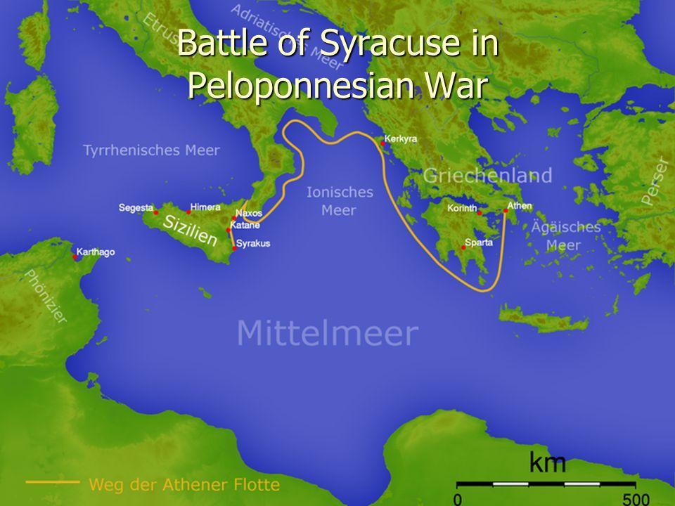 Battle of Syracuse in Peloponnesian War