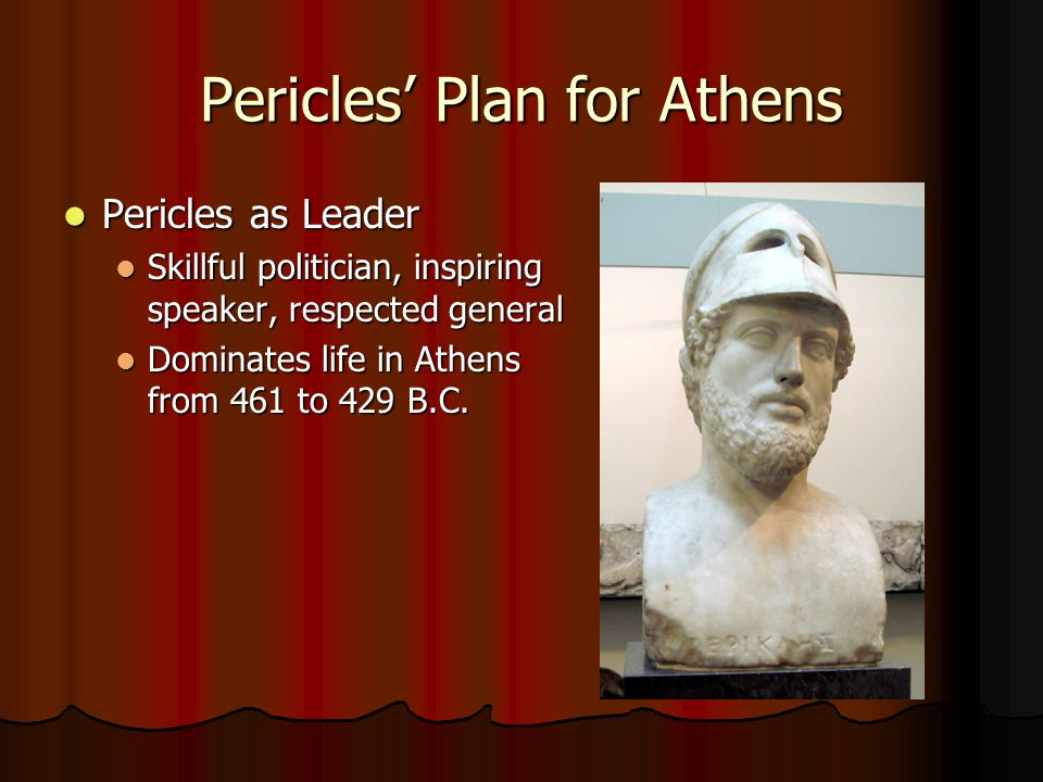 Pericles' Plan for Athens Stronger Democracy Stronger Democracy Pericles hires more paid public officials; creates direct democracy Pericles hires more paid public officials; creates direct democracy Direct democracy—citizens rule directly, not through representatives Direct democracy—citizens rule directly, not through representatives