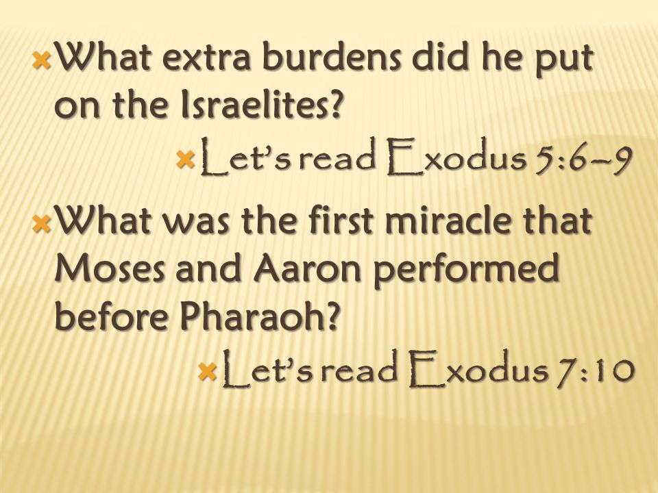 LLLLet's read Exodus 14:10–12 HHHHow should we act when challenges come into our lives.