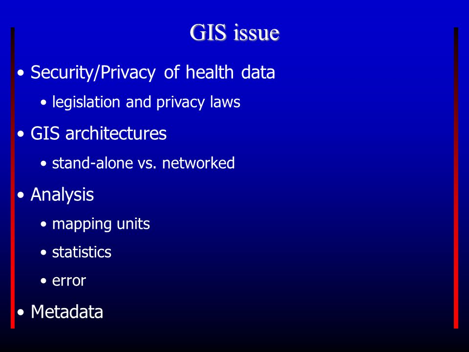 What is required for GIS.