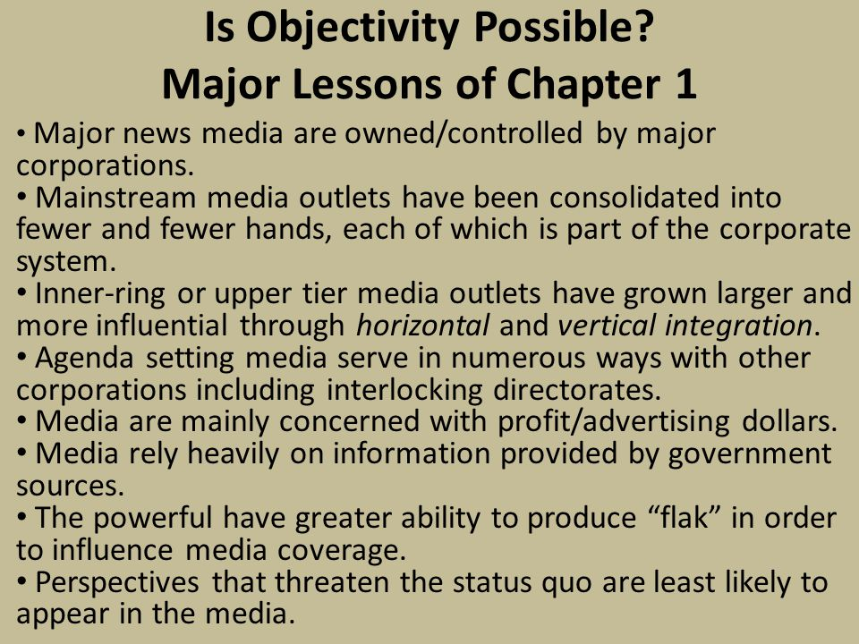 Is Objectivity Possible.