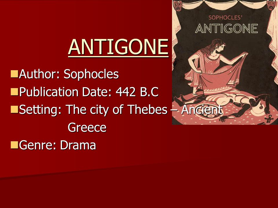 an analysis of antigone a great greek tragedy by sophocles