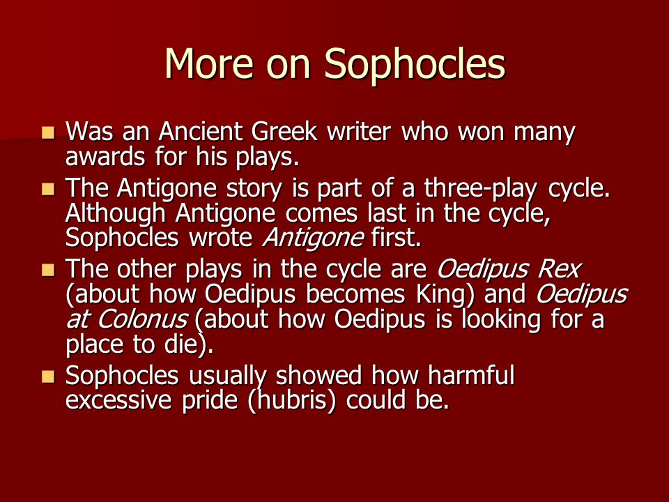 Oedipus Oedipus solved the riddle.