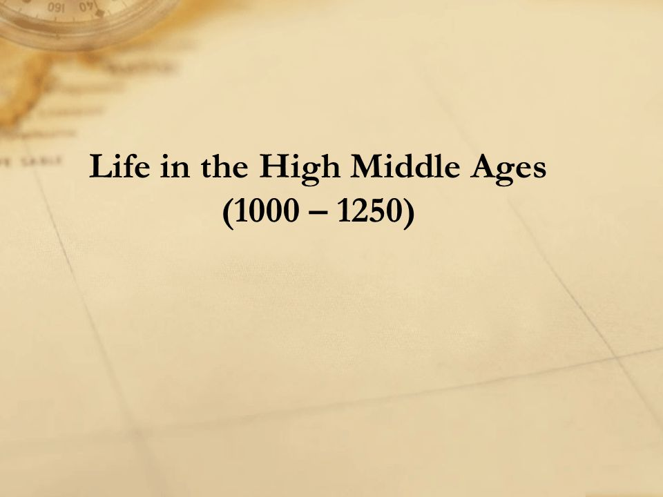 The Crises of the Late Middle Ages (1250 – Approx. 1500)