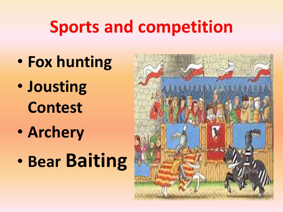 Sports and competition Fox hunting Jousting Contest Archery Bear Baiting