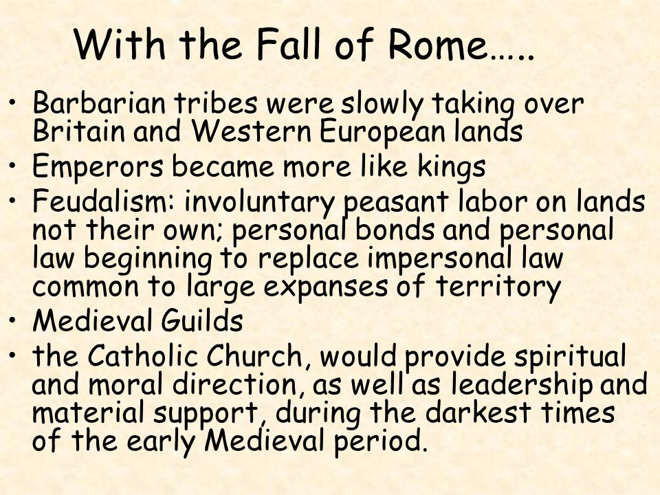 Middle Ages: General Timeline 476 C.E. Fall of Rome 1066 C.E. Norman invasion of Britain 1306-1321 Dante's Divine Comedy 1386 C.E. Chaucer begins writ