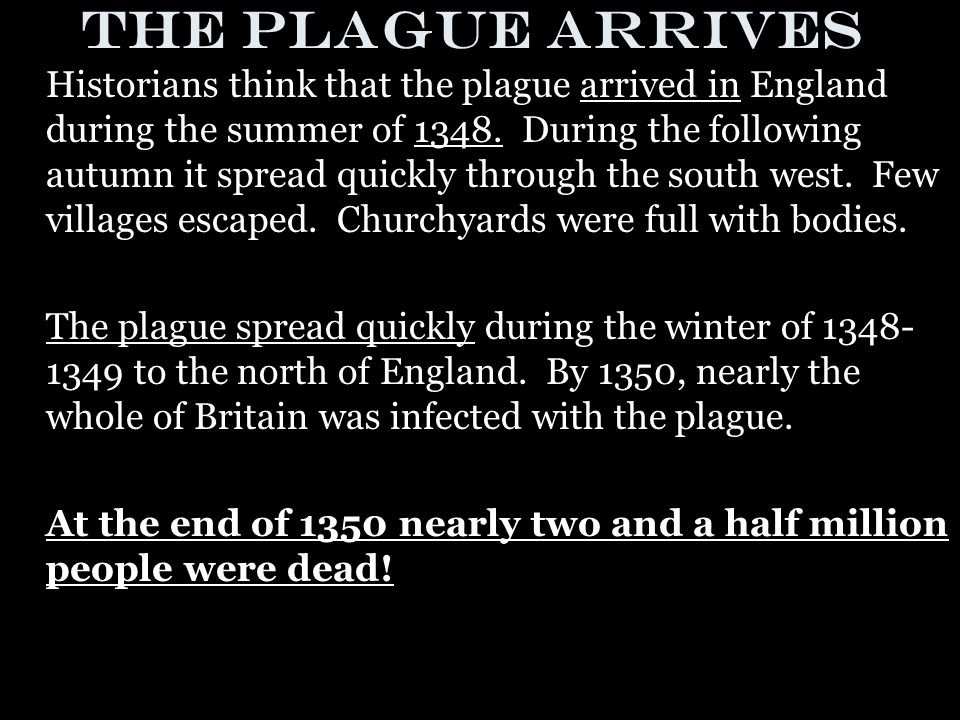 Transmission of the Plague