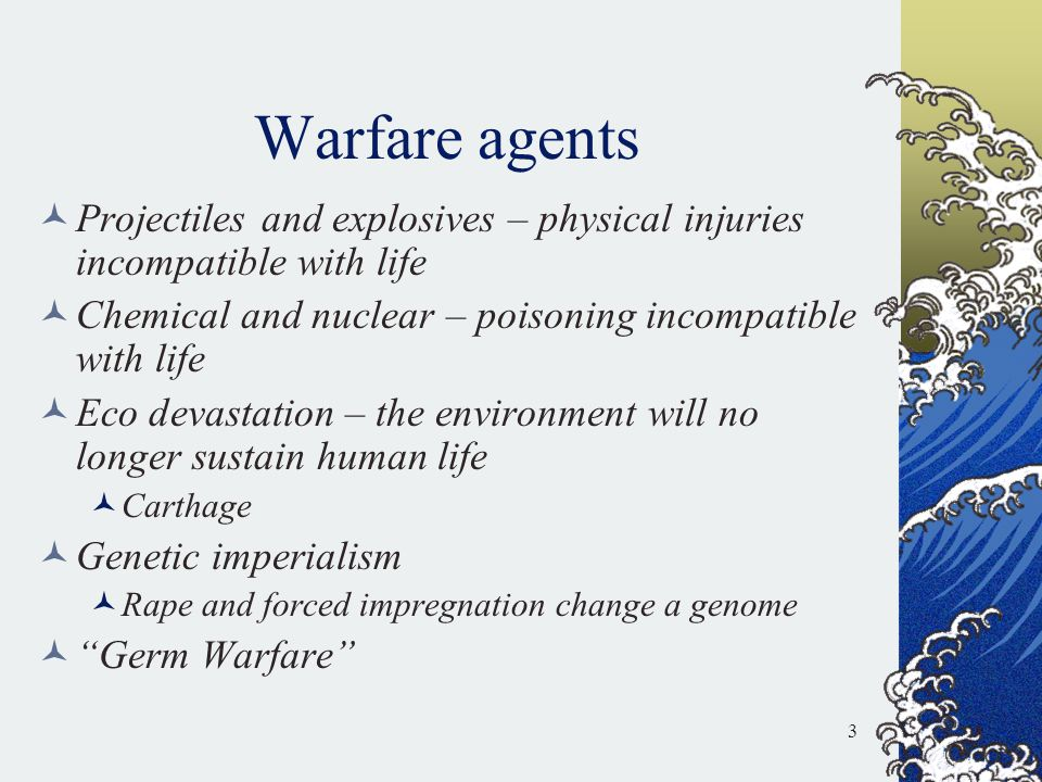 Treaties: honored in the breach 1972 Biological Weapons Convention Soviet Union in 1979 accidentally released anthrax Iraq in 1995 had anthrax, botulinum toxin, and aflatoxin 24