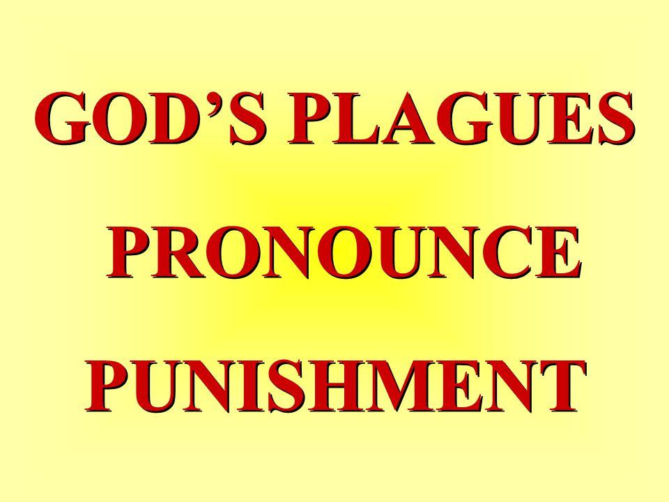 GOD'S PLAGUES PRONOUNCE PUNISHMENT GOD'S PLAGUES PRONOUNCE PUNISHMENT