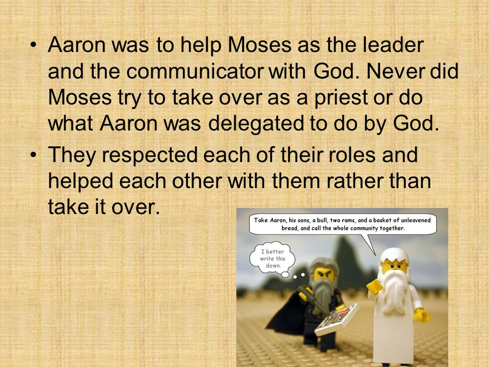 Aaron listened to Moses, took the censor, and ran in the midst of the congregation.