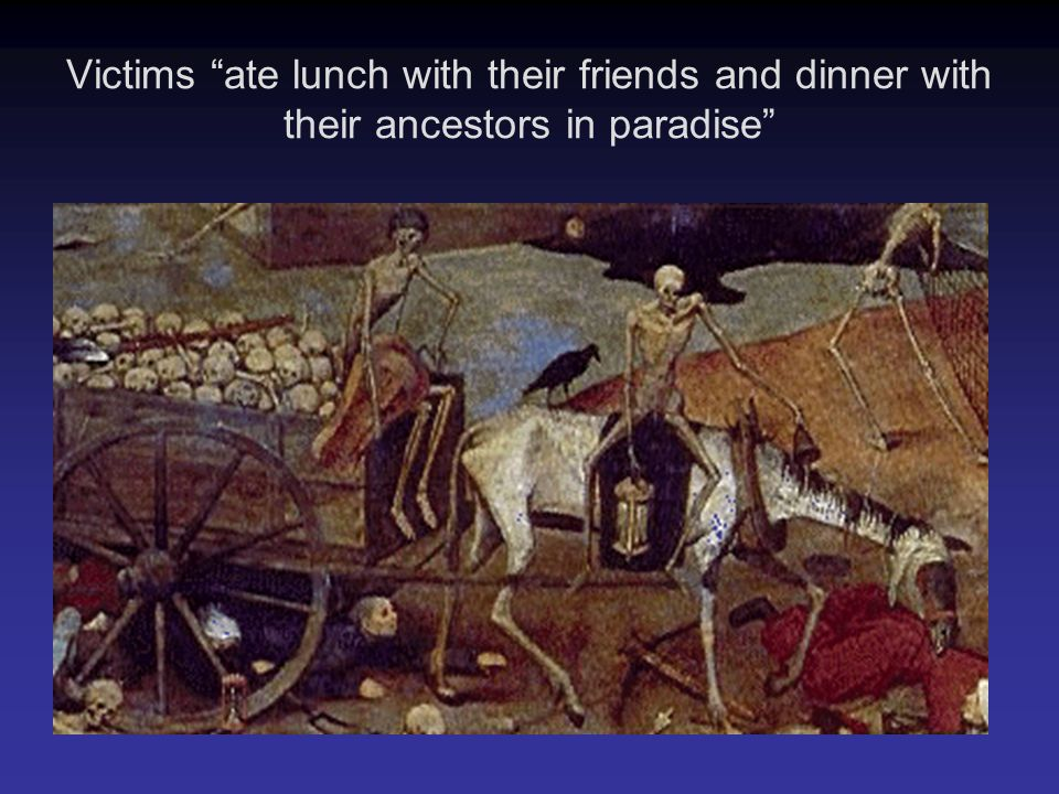 """Victims """"ate lunch with their friends and dinner with their ancestors in paradise"""""""