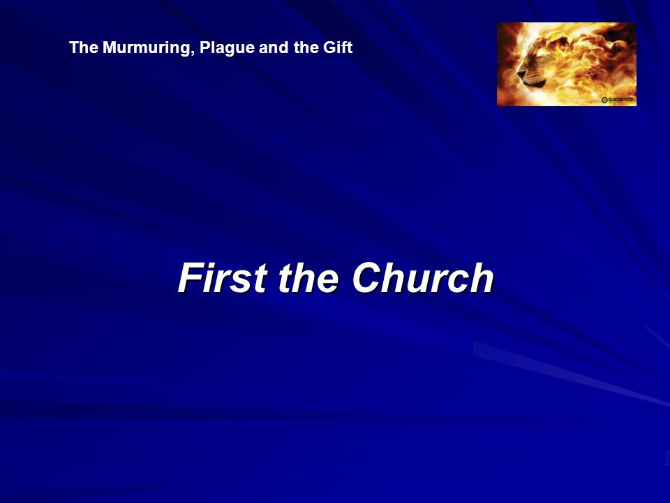 First the Church The Murmuring, Plague and the Gift