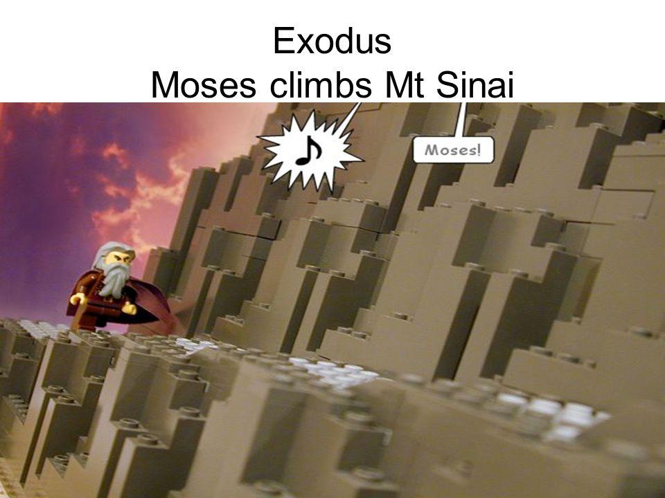 Exodus Moses climbs Mt Sinai