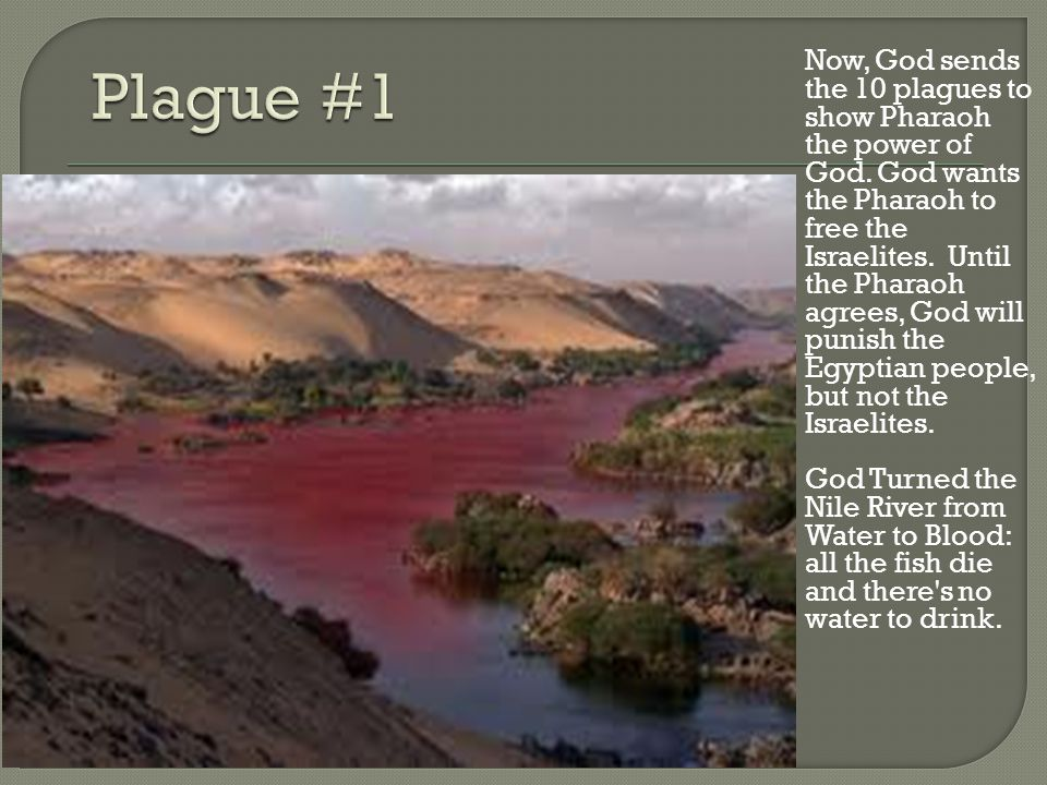 Now, God sends the 10 plagues to show Pharaoh the power of God.